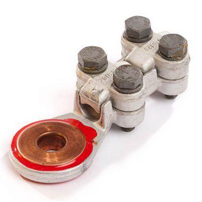 """נעלי כבל משוננים תקן DIN (חיבורים לחוט שזור אלומיניום ונחושת ע""""י ברגים)"""